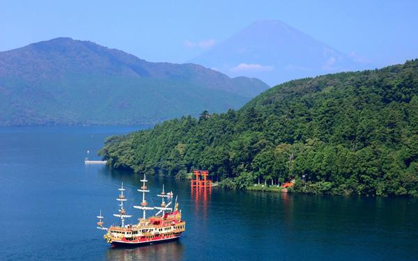 아시호수 해적선(유람선) 승선
